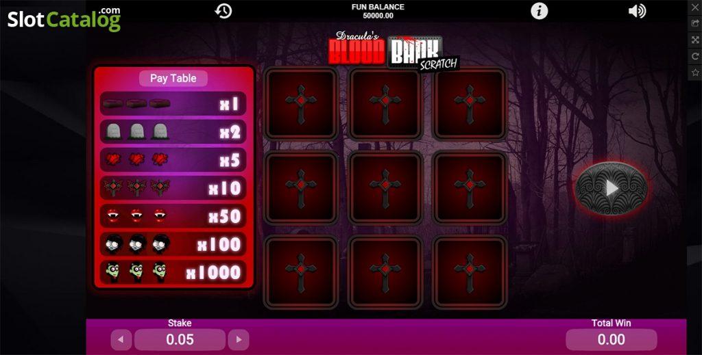 เกม blood bank scratch ที่มีความน่าสนใจในเรื่องของโบนัสและกำไร