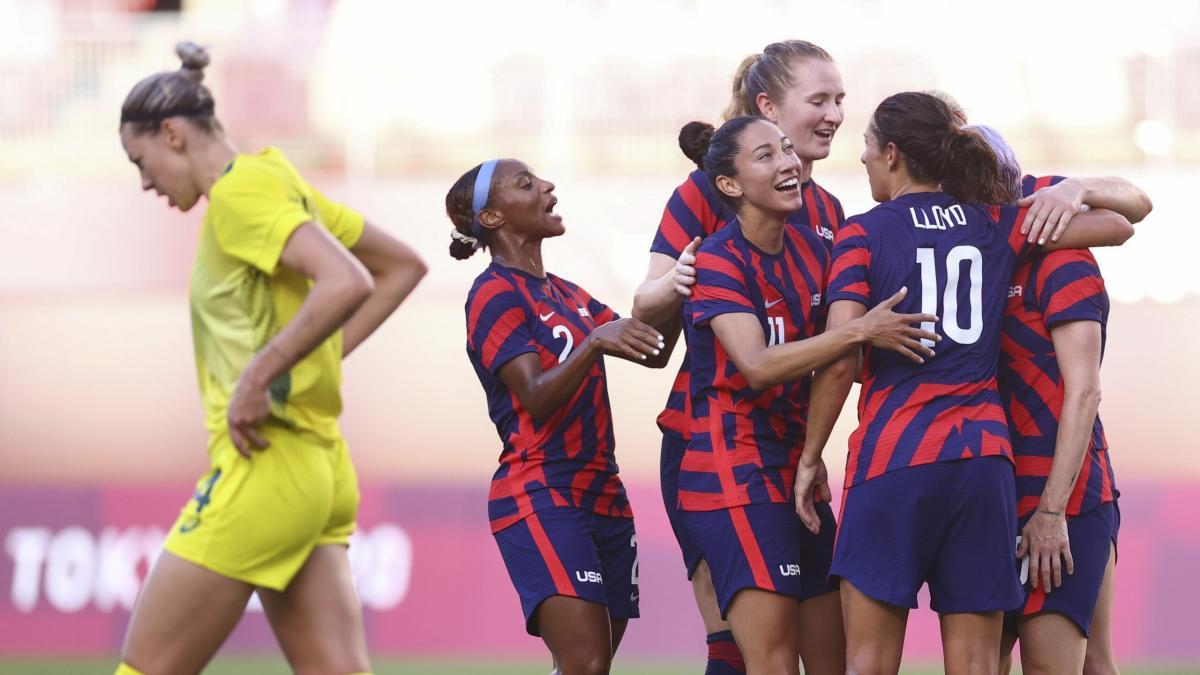 ออสเตรเลีย(ญ) พบ สหรัฐอเมริกา(ญ) การแข่งขันฟุตบอลหญิง โอลิมปิก 2021